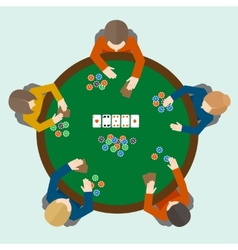 Poker game people vector image vector image