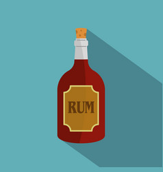 rum icon flat style vector image