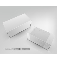 template white box isolated on a white background vector image vector image