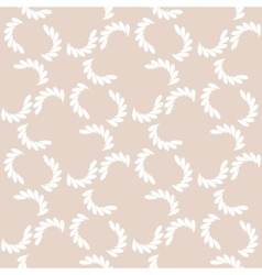 White branches on beige seamless pattern vector image