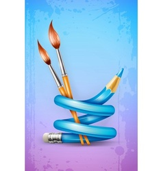 Creative art concept with vector image
