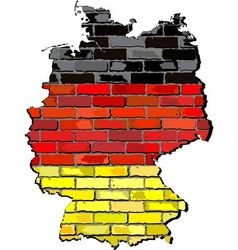 Germany map on a brick wall vector