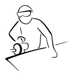 Industrial worker vector image