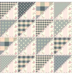 The patchwork quilt in shabby chic style from vector
