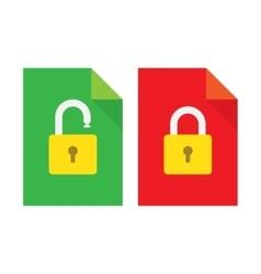 Document lock flat icon vector image