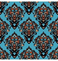 ethnic tribal damask seamless pattern background vector image vector image