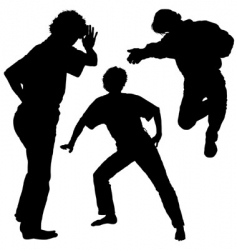 silhouettes mans vector image