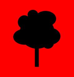 simple cartoon tree silhouette vector image vector image