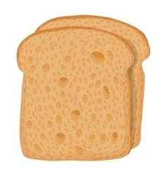 Sliced bread icon cartoon style vector image vector image