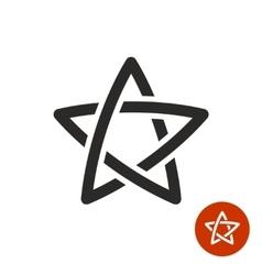 Star linear logo black color vector