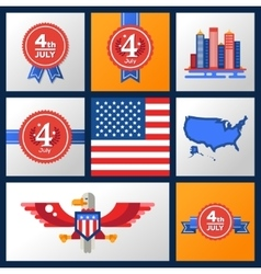 USA Independence Day Badges Set vector image
