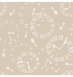 background with vintage clockfaces vector image