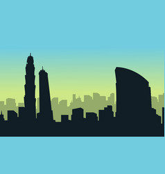 Collection of dubai city building landscape vector