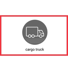 Delivery transport contour outline vector image vector image