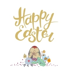 Happy Easter lettering Typographical vector image vector image