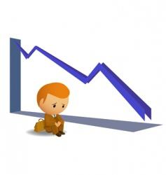 sad businessmen vector image