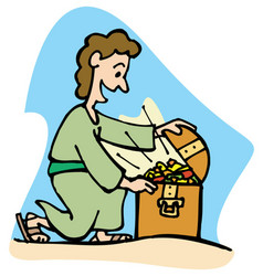 who finds a true friend finds a treasure vector image
