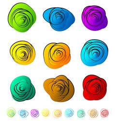 Abstract circular elements - circles ovals with vector