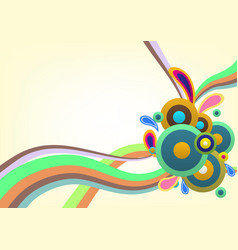 abstract colorful decorative template background vector image
