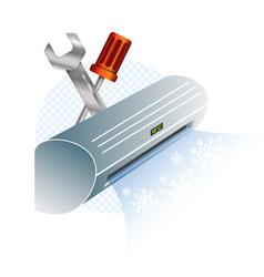 Air conditioning repair and maintenance vector