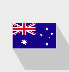 Australia flag long shadow design vector