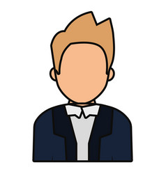 avatar judge man icon vector image