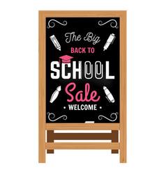 back to school design wooden announcement board vector image