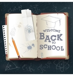 Back to School open book vector