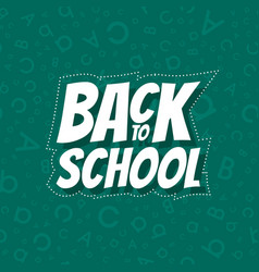 Back to school poster design with seamless abc vector