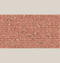background red brick wall seamless pattern vector image