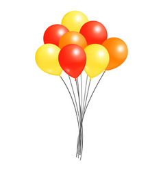 Balloons big bundle party decorations birthdays vector