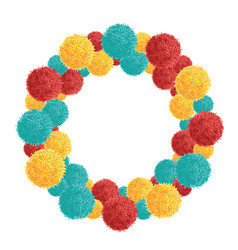 Big chunky wreath with colorful vibrant vector