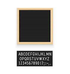 Black letter board vector