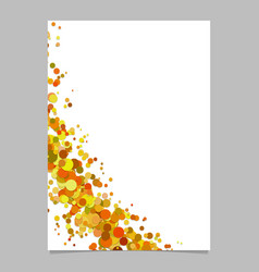 Blank curved abstract scattered confetti circle vector