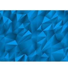 Blue abstract low-poly triangular background vector image