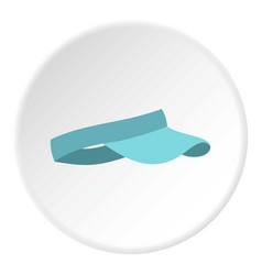 blue visor icon circle vector image vector image