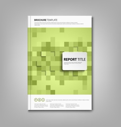 Brochures book or flyer with green square abstract vector