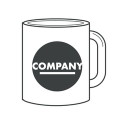Business corporate identity on souvenir cup or mug vector