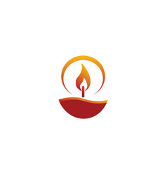 Candle wick wax for logo design vector