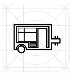 Caravan trailer home icon vector