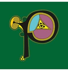 Celtic letter P vector