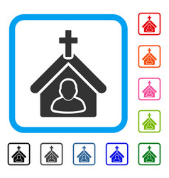 church person framed icon vector image