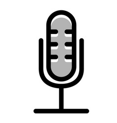 condenser microphone linecolor vector image