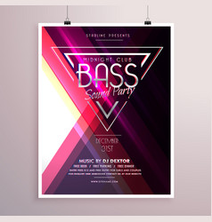 Creative music party flyer poster event vector