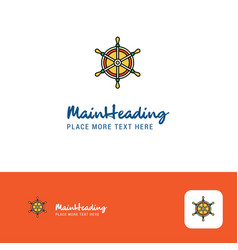 creative steering logo design flat color logo vector image