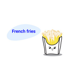 cute hot potato free french fries cartoon comic vector image