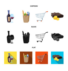 Design of food and drink symbol collection vector