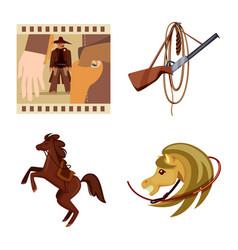 design wild and west symbol set wild vector image