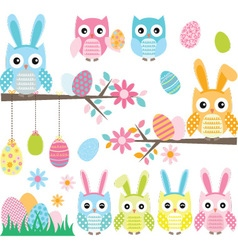 Easter owl vector