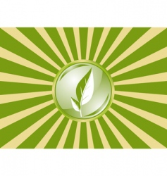ecology flag vector image
